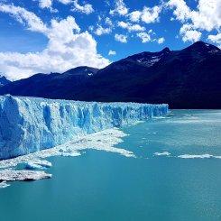 Perito Moreno e o lago Argentino.